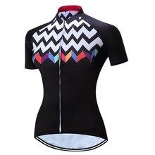2018 Для женщин задействуя Джерси Ropa Ciclismo леди рубашка короткий рукав Велосипедная форма быстросохнущая велосипеда Джерси Костюмы Maillot