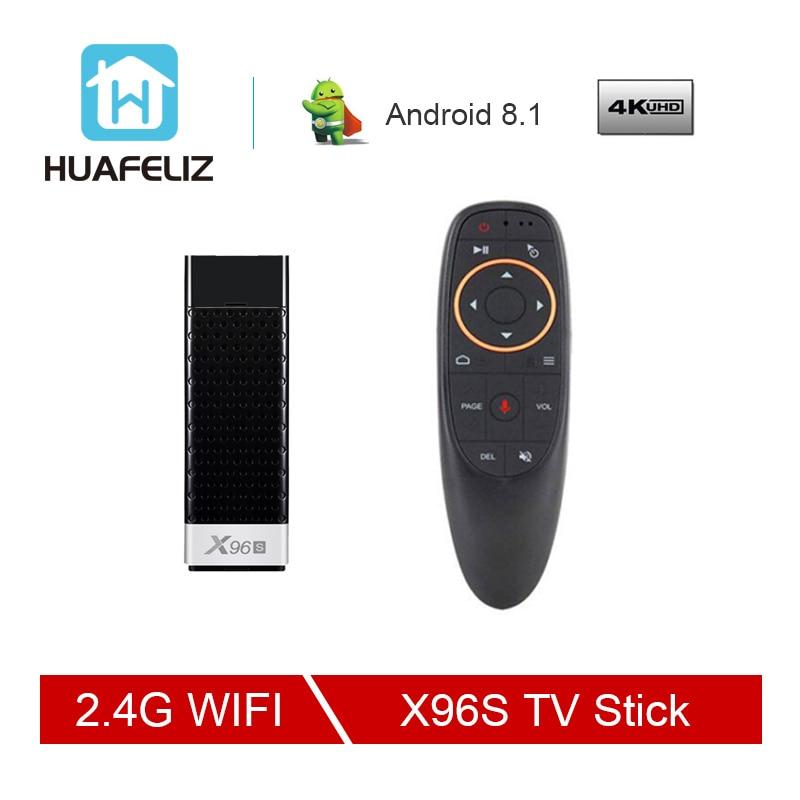 X96S Smart films & tv box Android 8.1 Quad Core Amlogic S905Y2 Wifi 4 GB 32 GB Bluetooth 4.2 4 K HD Smart TV Stick PK H96 Tv Stick