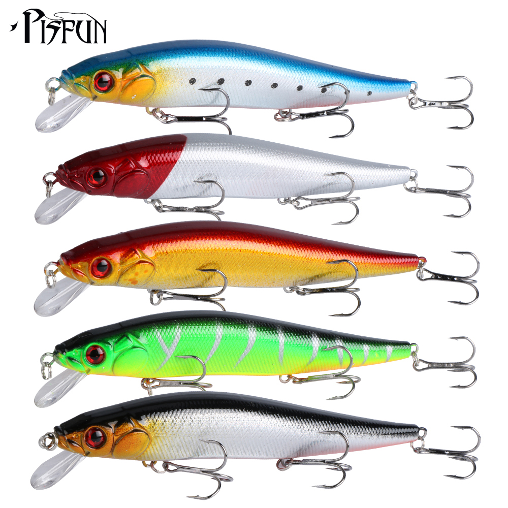 Pisfun 5pcs lot freshwater fishing lures minnow 14cm 24g for Best bait for freshwater fishing