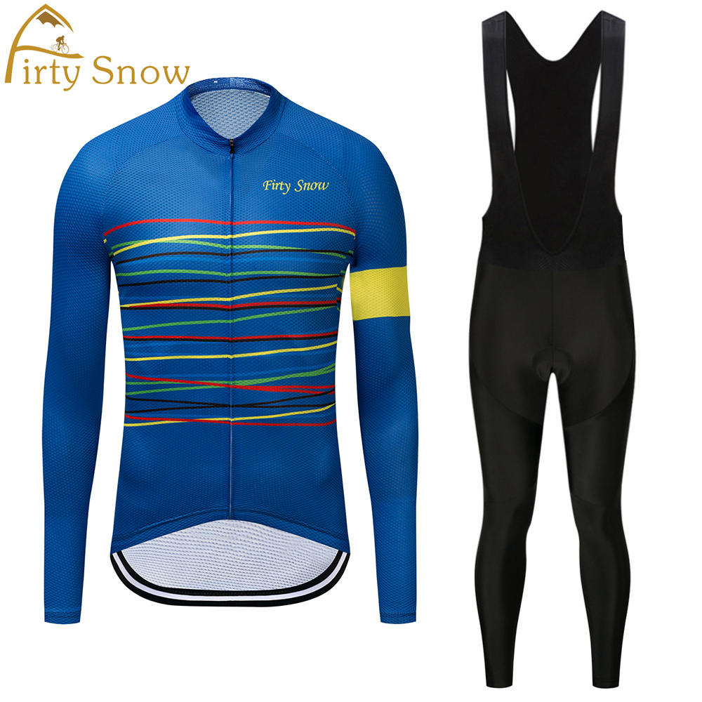Firty Snow Brand High Quality Newest Fabric Thin Cycling Jersey Wear Long Set Ropa Ciclismo Bike Clothing Pants 2018