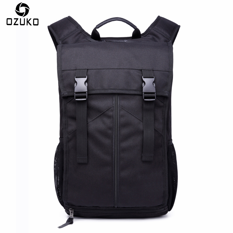 New OZUKO Men Backpack Multifunctional Fashion Casual 15/16 inch Laptop Backpack Waterproof Travel Bag Computer Bag School Bags 2016 new style canvas leather patchwork fashion student school stachel book 15 inch travel shopping laptop computer backpack bag