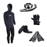 Yonsub Diving Swimming Snorkeling Fin Flippers Wetsuit With Mask Socks Gloves And Dry Snorkel Set For