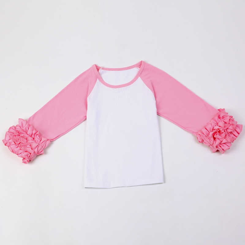Ruffled Raglan Toddler Shirtglitter Monogram Birthday Girls Shirt Monogrammed Childrens Ruffle Sleeved Shirts