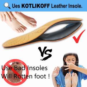 Image 4 - KOTLIKOFF High quality Leather orthotics Insole for Flat Foot Arch Support 25mm orthopedic Silicone Insoles for men and women