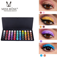 MISS ROSE 55 color eyeshadow pearlescent matte eye shadow professional makeup tray