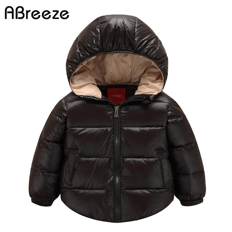 Abreeze 2019 Nieuwe baby down & parka's mode rood / zwart / blauw - Kinderkleding
