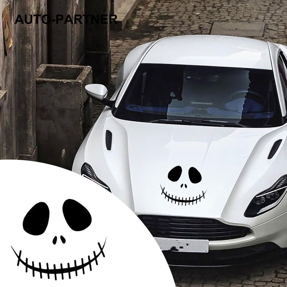 Ghost Face Reflective Waterproof Car Stickers Car Styling For Audi A4 B6 B8 Q5For TOYOTA corolla For VW Golf 4 5 6 7