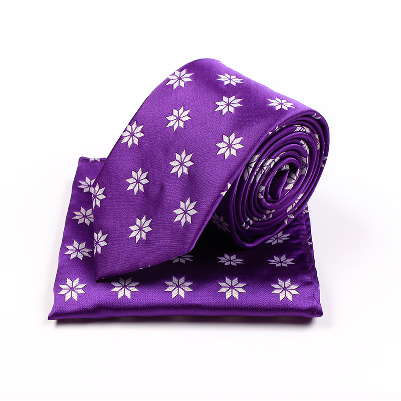 Wholesale 2017 Wintter New Christmas Gift Necktie for Men Suit Collar Jacquard Tie Pocket Towel Set Grape Snow Xmas Present