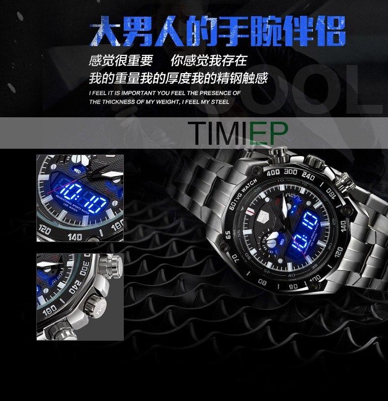 TVG Baru mewah fesyen pelbagai fungsi keluli kuarza tentera tentera - Jam tangan lelaki - Foto 5