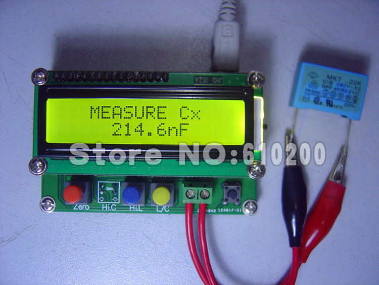 High precision Digital MINI Capacitance Meter L/C/F Inductance Test 0.01pF-10uF/0.001uH-100mH/0.001mH-100H/1uF-100mF