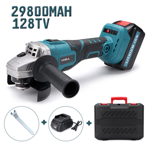 Image 2 - Protable Electric Angle Grinder Cordless Power Cutting Tool + 128tv/29800 lithium battery Rechargeable Power Tool Grinder