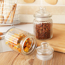 Kitchen Glass Sealing Storage Tanks Creative Practical Food Condiment Crystal Jewelry Decoration Tea Candy Bottle Jars