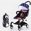 Marca Portátil Dobrável Carrinho de Bebê Do Pram Do Bebê Anti ultra-Leve carrinho de Bebé Infantil Moda Infantil Carriage Car 8 Cores em estoque