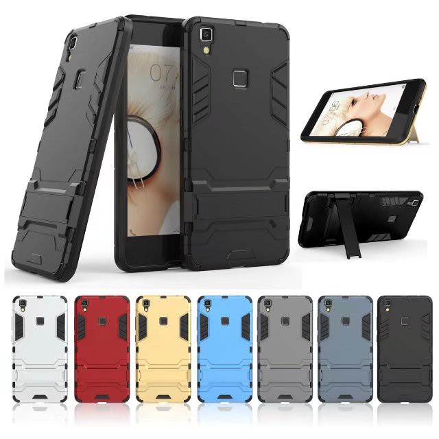 7 Colors Phone <font><b>Case</b></font> For <font><b>Vivo</b></font> V3 MAX <font><b>V3MAX</b></font> ShockProof TPU +PC Armor Robot Stand Casing Shell <font><b>Cases</b></font> Cover Shell Capa image