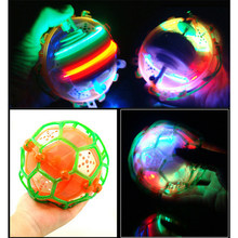 Children crazy electric luminous football toy dance music football bouncy ball toys hot-selling(China)