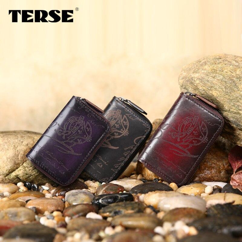 TERSE_New style key wallet 100% cowhide Leather key wallet Italian calkfskin keycase high quality lettering key wallet 3 colors
