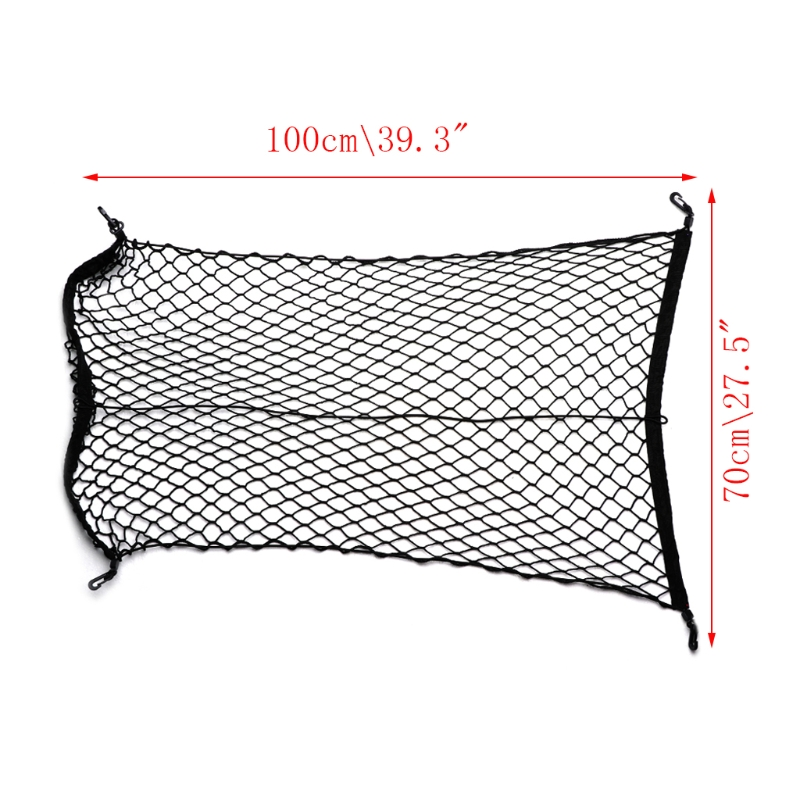 100x70 см универсальный органайзер для хранения багажа в багажник автомобиля, нейлоновая эластичная сетка с 4 крючками