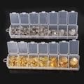 1Set Jewelry Accessories approx 300pcs Pick Size 6mm 9mm 10mm 12mm 15mm 16mm Iron Beads Cup for Jewelry Findings ket