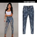 2016 Russia's women's plus size jeans Snow denim pants feet personality Jeans for femal