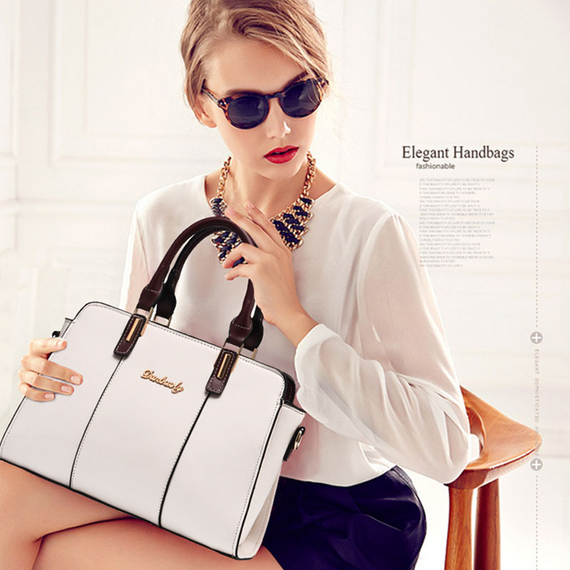 New Luxury Design Women Handbag Female Fashion Tote Ladies Handbags High Quality Artificial Leather Office Zipper Shoulder Bag 6