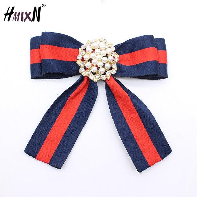 Новый имитация жемчуг цветок броши ленты лук воротник Пен корсаж рубашка галстук свадебные брохес Jewelry Для женщин подарок Вечерние