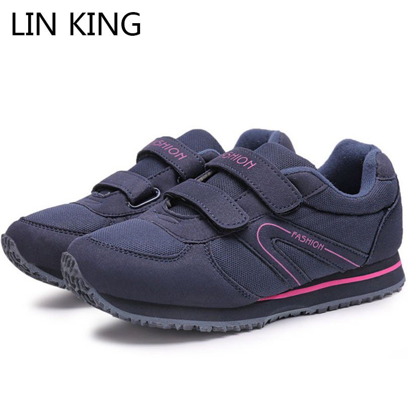 LIN KING New Casual Women Ankle Shoes Fashion Comfortable Low Top Shoes Breathable Female Work Shoes Mother Outdoor Sneakers