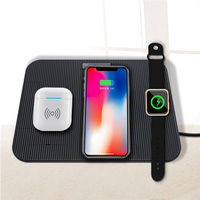 High Quality 4 In 1 Fast Qi Charging Wireless Charger Pad For Apple Watch & IPhone XS Max &Samsung S9 Charger+Charging plug S30