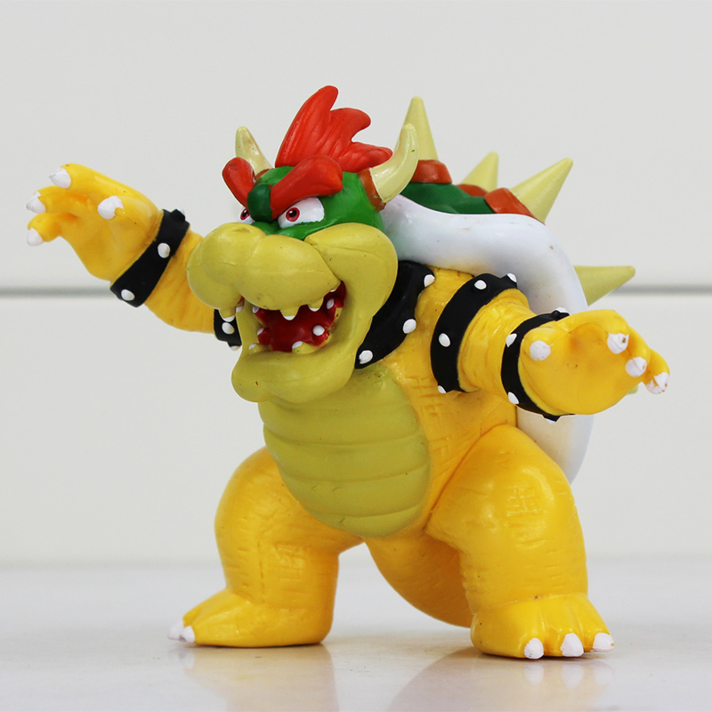 Super Mario Bowser Koopa PVC Figures Toy 8cm Great Doll Gift Free Shipping