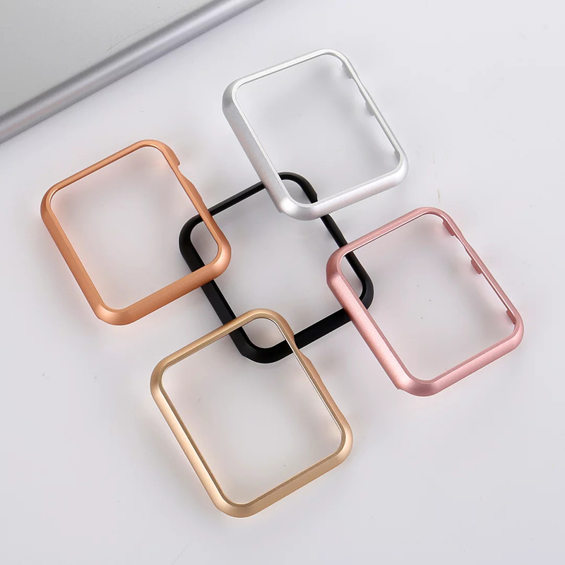 finest selection 1d8f4 6a442 US $2.99 |Metal Watch Case for Apple Watch 38/42mm Series 1 Stainless Steel  Body Cover Protective Shell Rose Gold Silver Black I141.-in Watchbands ...