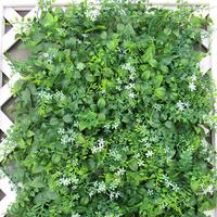 40*60cm Bushy Artificial White flower Green Leaf Grass Lawn Carpet Mat For Green Plants Wall Wedding Home Office Decoration