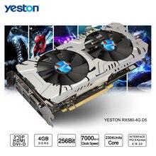 Yeston Radeon RX 580 GPU 4GB GDDR5 256 bit Gaming Desktop computer PC Video Graphics Cards support DVI HDMI