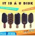 Симпатичный usb флэш-накопитель мороженое usb флэш-диск, пластиковая ручка диск 16 г/8 г/4 г/2 г флэш-памяти на горячей продажи usb 2.0 U диск