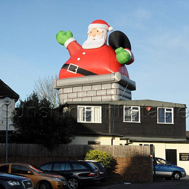Christmas Inflatable Part - 40: High Quality Giant Outdoor Christmas Inflatable Santa In Chimney For Sale