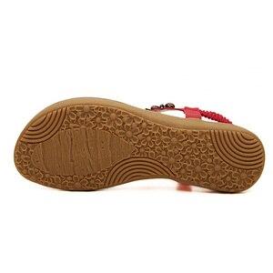 Image 2 - BEYARNE חדש קיץ סנדלים שטוחים גבירותיי קיץ בוהמיה חוף כפכפים נעלי נשים Scarpe דונה Zapatos Mujer Sandalias
