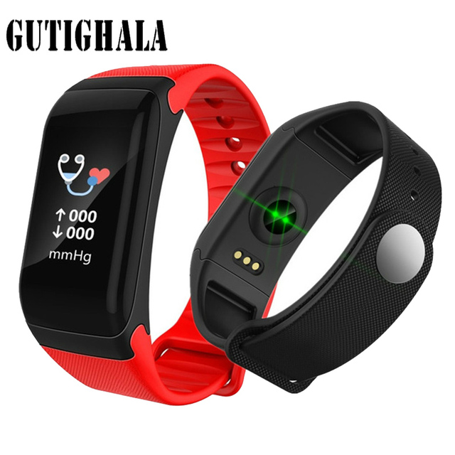 Gutighala Color Screen Waterproof F1 Plus Smart bracelet Wristband Fitness Tracker Call Reminder Step Pulse Heart Rate Monitor