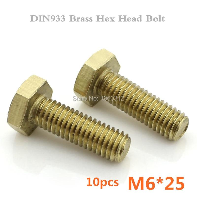 BOLT 10Mm Hex Head Flange Bolts M6X25 10//Pack