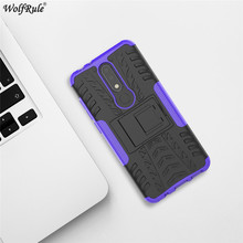 hot deal buy for cover nokia 5.1 plus case tpu&pc holder armor bumper protective phone case for nokia 5.1 plus cover for nokia x5 2018 5.86''