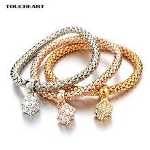 Toucheart 3 шт роскошные золотые фото и браслеты для женщин
