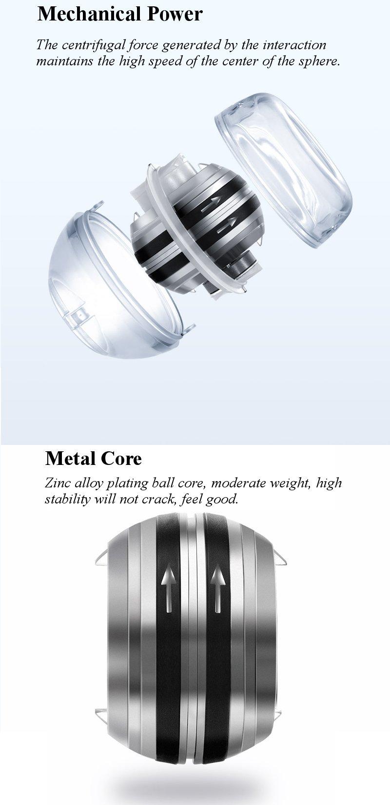Xiaomi mijia yunmai Wrist Trainer LED Gyroball Essential Spinner Gyroscopic Forearm Exerciser Gyro Ball for Mijia mi home kits # (5)