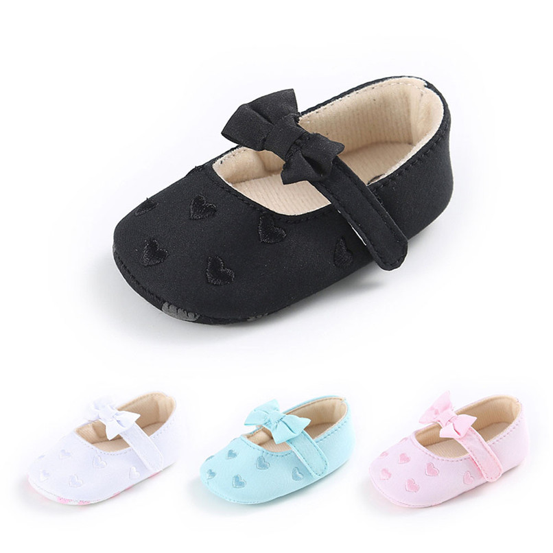 Summer Baby Girls Shoes Toddler Kids Baby Girl Canvas Solid Bow-knot Soft Sole Anti-slip Shoes Baby First Walker Shoes M8Y11 #F new brand spring soft sole girl baby shoes cotton first walkers fashion baby girl shoes butterfly knot first sole kids shoes
