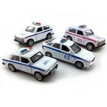 1:32 Масштаб Лада Нива/приора/2106 русская полиция игрушечный автомобиль, литья под давлением модели автомобиля коллекционные игрушки, тянуть назад Функция/музыка/свет