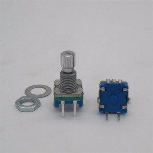 20 шт./лот оригинальный, поворотный кодер, кодовый переключатель/EC11/цифровой потенциометр с переключателем 5Pin длина ручки 15 мм Q