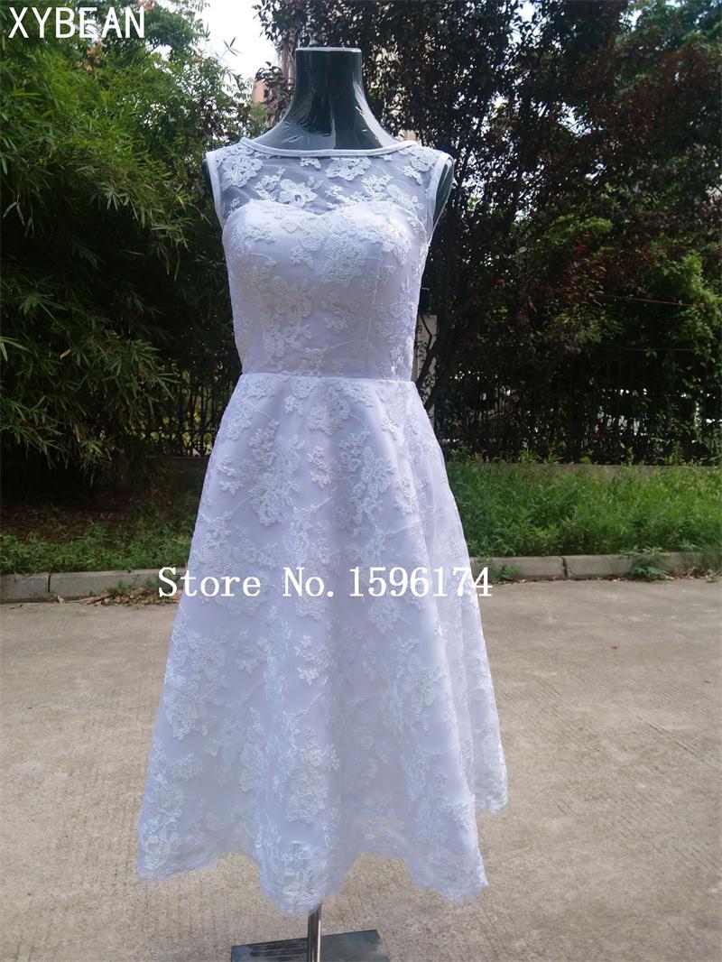 Olcsó ár ! 2019 Új ingyenes szállítás A vonal édesem csipke teahosszú esküvői ruha FS185