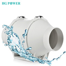 4''~5'' 220V High Efficiency Inline Duct Fan Ventilation System Exhaust Extractor Fan Hydroponic Air Blower Booster for Bathroom