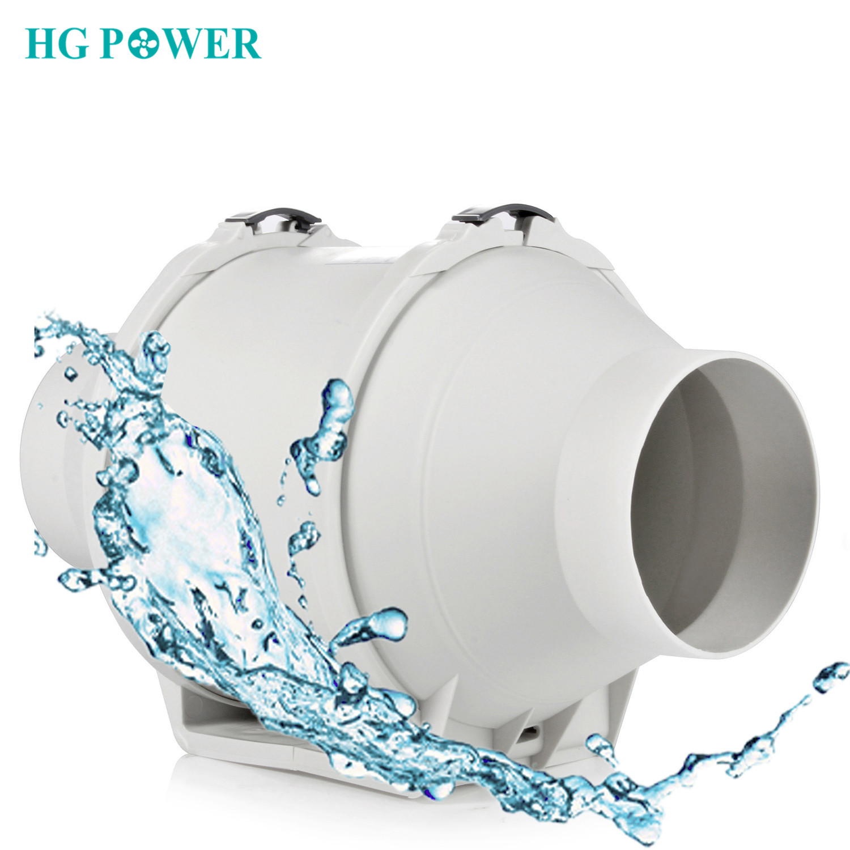 Hon/&Guan Ventilador Extractor de Conducto en L/ínea para Ba/ño /ø200mm Hidrop/ónicos Invernaderos