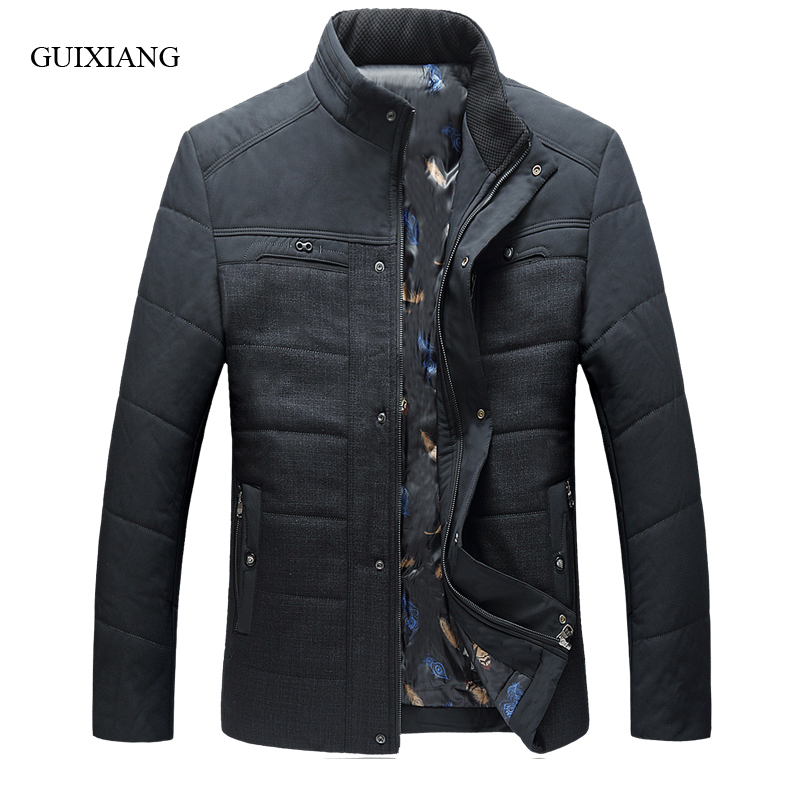 2017 new arrival style men boutique parkas fashion casual stand collar men's solid thick cotton-padded clothes coat size 5XL-8XL new arrival style men boutique parkas fashion solid detachable large hair collar men s loose thick jacket coat large size l 7xl