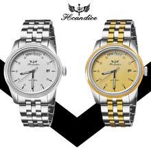 Hcandice 2017 Dignity Men's Hcandice Fashion Watch Stainless Steel Band Mechanical Watch Wrist Watches JUN 8