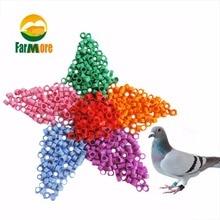 100 шт кольца для ног птицы No.1-100 кольца для ног для гоночных голубей 9 цветов на выбор принадлежности для ног для попугаев инструменты для обучения попугаев