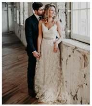 Цвета слоновой кости неформальное дешевое свадебное платье 2020