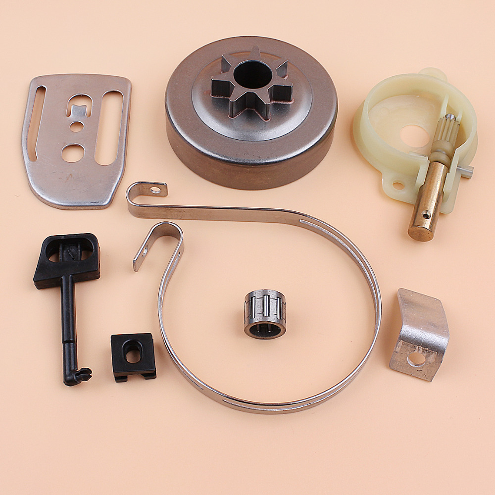 Clutch Drum Oil Pump Brake Band Bar Plate Choke Rod Kit For HUSQVARNA 142 141 137 136 36 41 Chainsaw